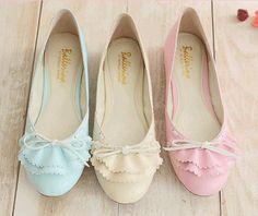 Pastel flats - for sore feet from heels!