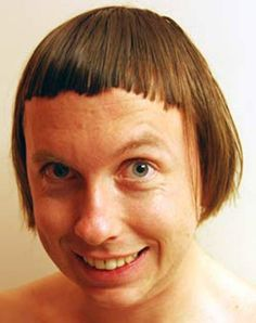 At last!  Someone who did a worse job cutting their own bangs than me!