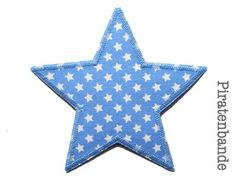 Bild: Stern Sternchen hellblau Aufnäher