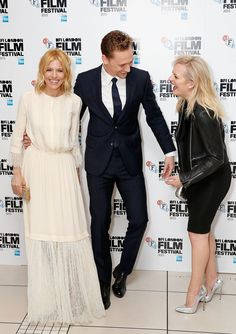 With Sienna Miller and Elisabeth Moss for the premiere of 'HIGH-RISE' during the BFI London Film Festival, held on Friday, 9 October 2015 in London, UK