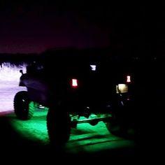 【saku.8833】さんのInstagramをピンしています。 《jb23  #jb23 #ja11 #jimny #4x4offroad #4x4 #山#海#川#森#ジムニー#ジムニー#ダウンライト #ロックライト#グリーン #led #led#ledライト #hid #夜》