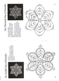 Копилка схем фриволите Tatting Earrings, Tatting Jewelry, Tatting Lace, Crochet Snowflake Pattern, Crochet Snowflakes, Crochet Patterns, Shuttle Tatting Patterns, Needle Tatting Patterns, Tatting Tutorial