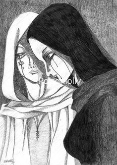 Sadness by Poisonlolly. Dark gothic horror art created with  graphite on paper. © Poisonlolly