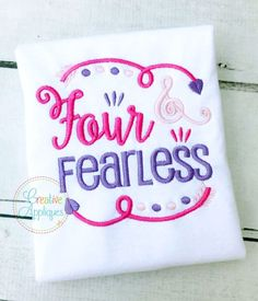 Four and Fearless Embroidery