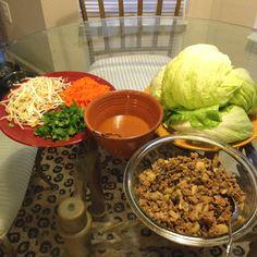 Turkey Lettuce Wraps via Melissa d'Arabian on Foodnetwork.com. Very good!!
