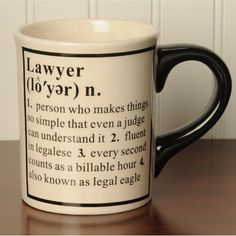 Definition of a Lawyer mug