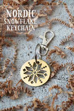 Nordic Snowflake Keychain
