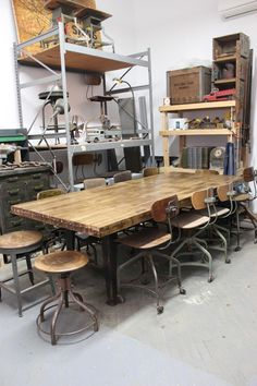 Dorset Finds Heavy Duty Custom Dining Boardroom Table W Cast Iron Legs