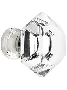 8x Large Clear Crystal Knobs Glass Drawer Cupboard Cabinet Sideboard Desk