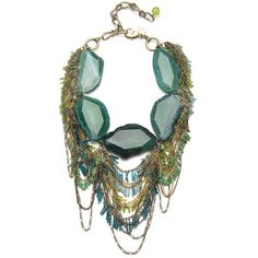 Sequin Green Agate Fringe Necklace (€92) ❤ liked on Polyvore featuring jewelry, necklaces, accessories, colar, jewels, women, long chain necklace, fringe necklace, long fringe necklace and adjustable chain necklace