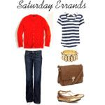 Coral, white and nude - Polyvore