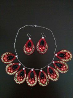 Hoby Quilling Quilling School Facebook page. Nihal Çetin Kolye. Crochet Earrings, Drop Earrings, Facebook, Jewelry, Fashion, Jewlery, Moda, Jewels, La Mode