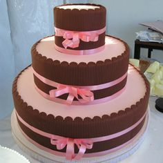 brown and pink italian cake by Andrea Monti