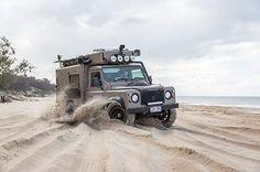 Land Rover Defender 110 Td5 caravaning. Sand dunes diversion. Nicer