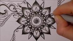 How to draw mandala (6) - Jak narysować mandalę  (6) - zentangle, doodling