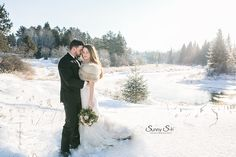 Kenora winter wedding in the wilderness.  Perfection.