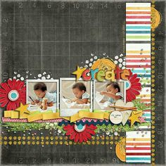 12by12 scrapbook layout