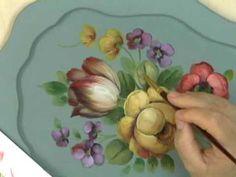 """▶ Peinture Décorative : """"Le style Floral Français"""" par David Jansen - YouTube"""