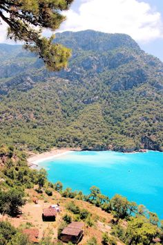 Kabak, Turkey. South of Butterfly Valley. Communal camps. Hike down from the village  Kabak Koy.