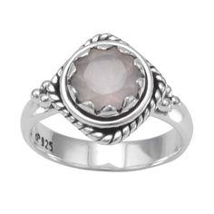 Oxidized Rose Quartz Ring