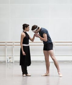 The Royal Ballet's new star-crossed lovers: Yasmine Naghdi and Matthew Ball - Yasmine Naghdi And Matthew Ball Rehearsing Romeo And Juliet, Rehearsal Photography By Andrej Uspenski ©Roh, 2015