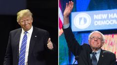 New Hampshire primary Bernie Sanders & Trump