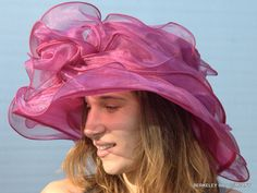 Kentucky Derby Hats for Sale | Kentucky Derby Hat in Layered Organza with French inner band for size ...