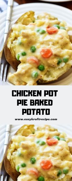 ideas for recipe chicken casserole baked potatoes Easy Chicken Recipes, Easy Healthy Recipes, Recipe Chicken, Baked Potato Recipes, Chicken Ideas, Cheap Meat, No Bake Pies, Kraft Recipes, Potato Dishes