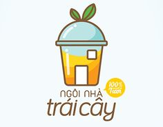 """Logo and responsive website by Ngoc Thuy Do, for Ngôi Nhà Trái Cây (""""The Fruit House"""") ,a smoothies and juice delivery service in HCMC, Vietnam. Logo idea is a mixing of """"fruit"""" and """"house"""" images into the """"one-time using cup"""" which presents deliveryed a…"""