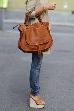 Chloe bag- whiskey color
