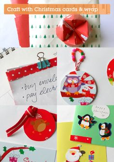 Five Great Ways to Re-use Christmas Cards and Wrap