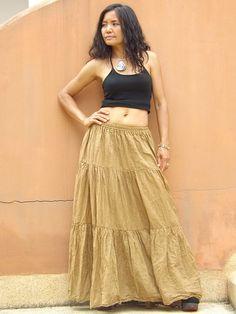 Boho Long Skirt   .....Long Skirt  ...Color Golden by Ablaa, $33.00