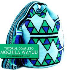 Aprende a tejer tu propia mochila wayuu tapestry con ganchillo - Wayuu tapestry backpack crochet Tapestry Crochet Patterns, Crochet Stitches, Knit Crochet, Mochila Tutorial, Wiggly Crochet, Mochila Crochet, Crochet Backpack, Tapestry Bag, Crochet Purses