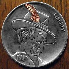 Steve Cox Hobo Nickel, Coin Art, Buffalo, Coins, Money, Baby, Rooms, Silver, Baby Humor