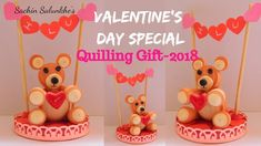 Hello friends, this video is about paper quilling valentine's day gift. Valentine Day Special, Valentines Diy, Valentine Day Gifts, Valentine's Day Diy, Paper Quilling, Diy Paper, Birthday Cake, Teddy Bear, Gift Ideas