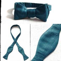 Bowtie! Love them! Made this silk bowtie. #legallysewed #bowtie #necktie #formalwear #bowtieaddict #delhi