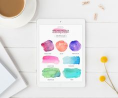 Free watercolor designs. Bonus tutorial with video on how to use them included - Inkstruck Studio for Dawn Nicole Designs
