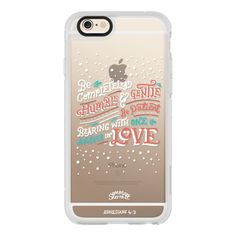 Ephesians 4:2 Bible Verse Case - iPhone 7 Case, iPhone 7 Plus Case,... ($40) ❤ liked on Polyvore featuring accessories, tech accessories, iphone case, iphone cases, iphone hard case, iphone cover case and apple iphone case