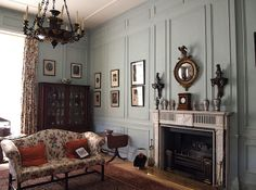 Sitting Room, Hanbury Hall, Droitwich, Worcestshire, England | Hanbury Hall is a large stately home, built in the early 18th century, standing in parkland at Hanbury, near Droitwich and Stoke Prior, West Midlands, Worcestershire, England. The main range has two storeys and is built of red brick in the Queen Anne style. It is a Grade I listed building. The associated Orangery and Long Gallery pavilion ranges are listed Grade II*. Wikipedia