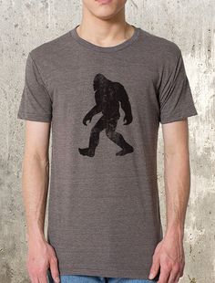Men's Bigfoot T-Shirt - Screen Printed Men's T-Shirt - Men's Small Through 2XL…