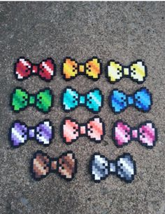 Small multi-colored bows