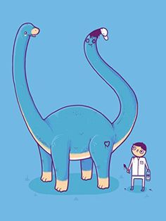'Someone On Your Level' Funny Brontosaurus w/ Painted Tail 18x24 - Vinyl Print Poster