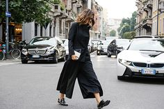 Trends: Culottes, Street Style // Spring fashion 2015: 186 photos of the top 10 trends of the season http://www.fashionmagazine.com/fashion/trends-fashion/2014/10/09/top-spring-2015-trends/