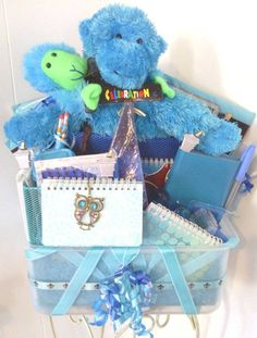 SALE Monkeying Around CONGRATULATIONS Gift Basket by cappelloscreations, $50.00@Etsy