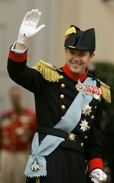 Crown Prince Frederik of Denmark on his wedding day