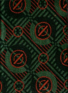 London Transport moquette from before the Second World War