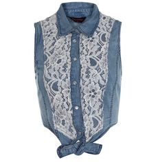 knotted laced denim