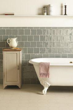 Belle idée salle de bain vintage