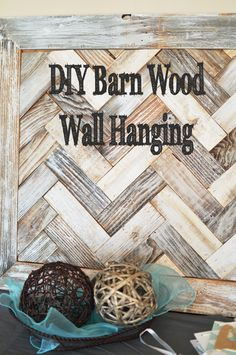 This is a really cool wall hanging. It is made from barn wood, and made into a herringbone design. This design has gotten really popular, and is so fun to decorate with. This first thing you do ...