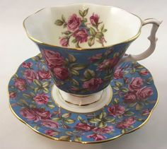 Excited to share this item from my shop: Royal Albert Harewood Teacup and Saucer Merrie England Series Tea Sets Vintage, Vintage Cups, Tea Cup Set, Tea Cup Saucer, Royal Albert, Teapots And Cups, Teacups, China Tea Cups, Drinking Tea